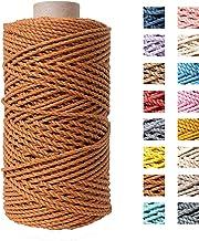 Katoen macramé touw - Macramé koord - Bruin - 3mm dik - 140 meter - 600 gram (Bruin)