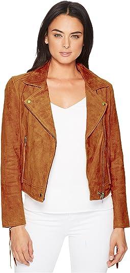 Blank NYC Suede Moto Jacket w/ Fringe