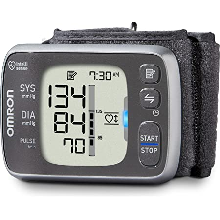 Omron 7 Series Wireless Wrist Blood Pressure Monitor; 100-Reading Memory with Heart Zone Guidance - Bluetooth Works with amazon Alexa ByOmron