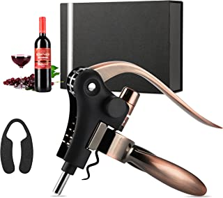 Wine Opener, Rabbit Wine Bottle Opener Corkscrew Set w/Foil Cutter, Extra Corkscrew Spiral and Gift box for Anniversary, Birthday, Christmas, Wedding, Business