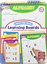 Active Minds - Write-and-Erase - Wipe Clean Learning Boards Ages 4+ - Numbers, Addition, Alphabet, Shapes, and Drawing