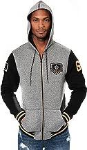 NFL Ultra Game Men's Full Zip Fleece Hoodie Letterman Varsity Jacket