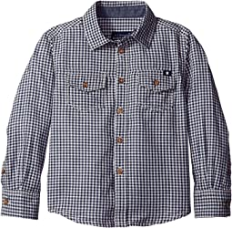 Long Sleeve Button Down Woven Shirt (Little Kids/Big Kids)