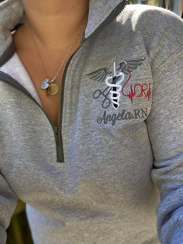 Personalized 1 4 Zip OR Pullover Medical Financial sales Manufacturer OFFicial shop sale Nursing Jacket