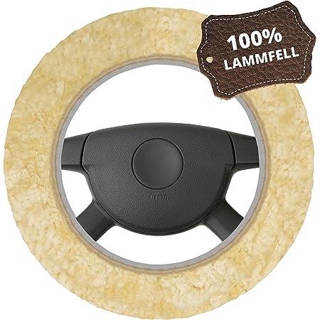 Reissner Lammfelle Lenkradbezug perl