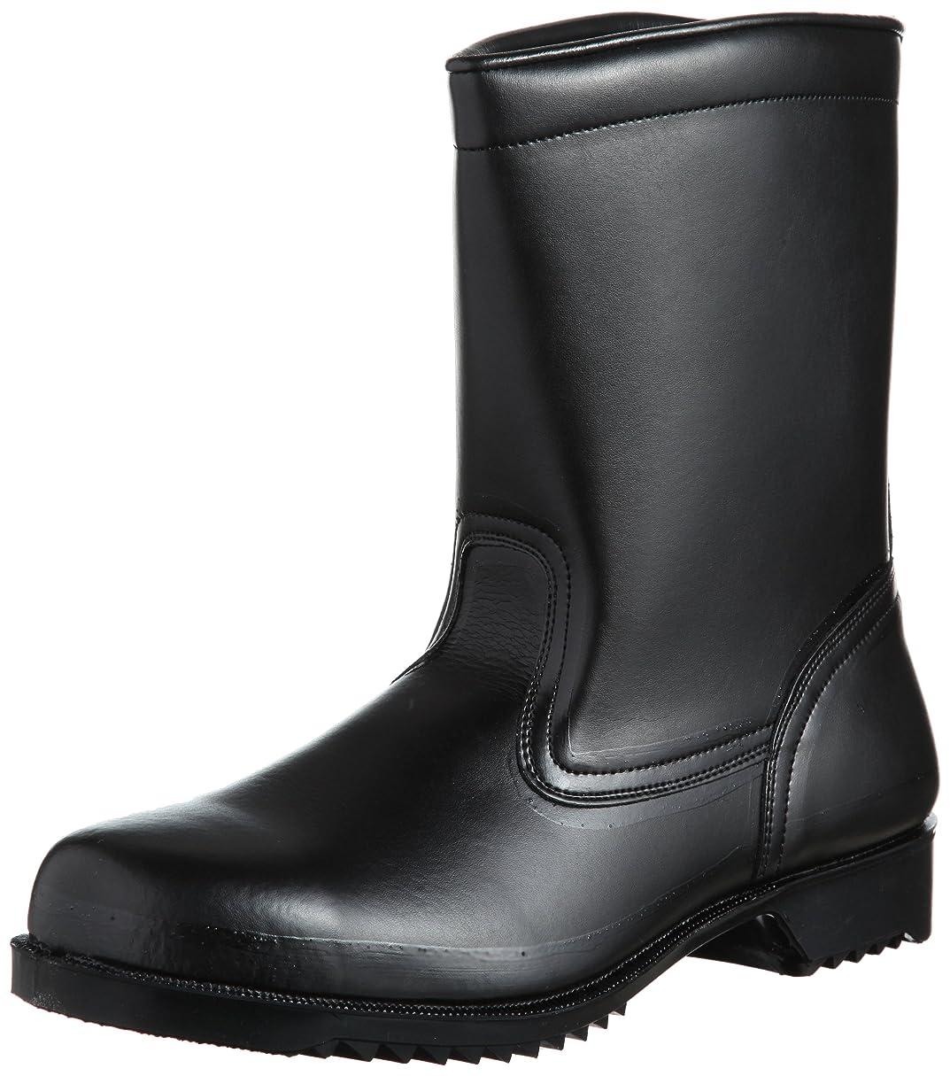 アプライアンス人柄枝安全靴 JIS規格 耐油 耐薬 耐滑ゴム底 半長靴 V2400NT 耐滑 メンズ