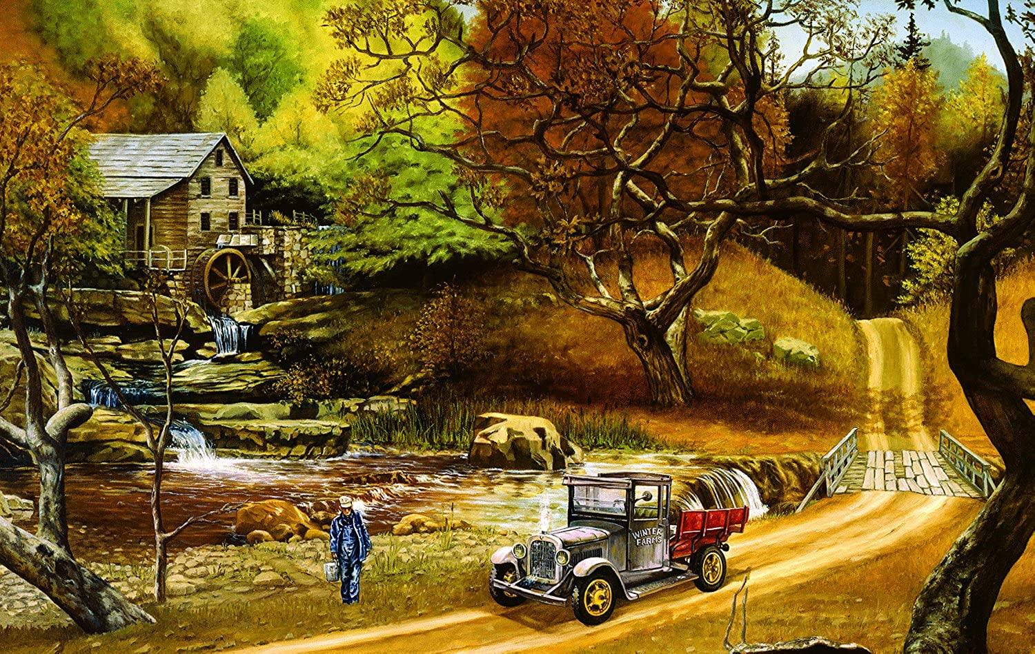 Water For Lizzie - 550 Piece Jigsaw Puzzle By SunsOut Inc.