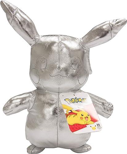 """wholesale Pokémon 25th Celebration 8"""" Silver Pikachu sale Plush - Limited Edition Shiny Silver wholesale Stuffed Animal Toy - 2+ sale"""