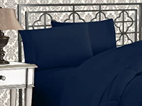 Elegant Comfort ™ Luxurious 1500 Thread Count Egyptian Three Line Embroidered Softest Premium Hotel Quality 4-Piece Bed Sh...