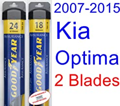 2007-2015 Kia Optima Replacement Wiper Blade Set/Kit (Set of 2 Blades) (Goodyear Wiper Blades-Assurance) (2008,2009,2010,2011,2012,2013,2014)