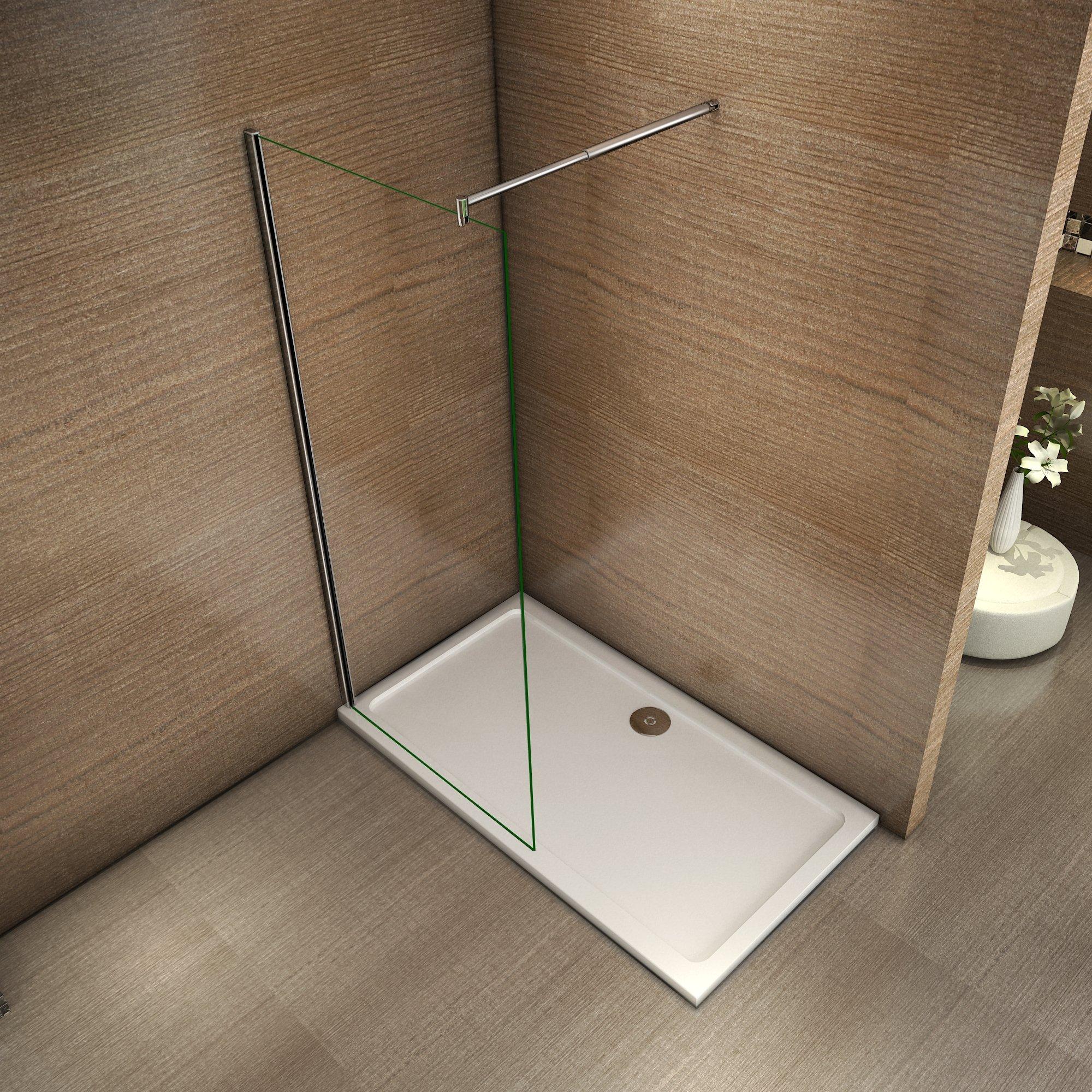 Mamparas de Ducha Frontales Puerta Fijo WALK IN Antical 10mm Cristal Barra 70-120cm 50x200cm: Amazon.es: Bricolaje y herramientas