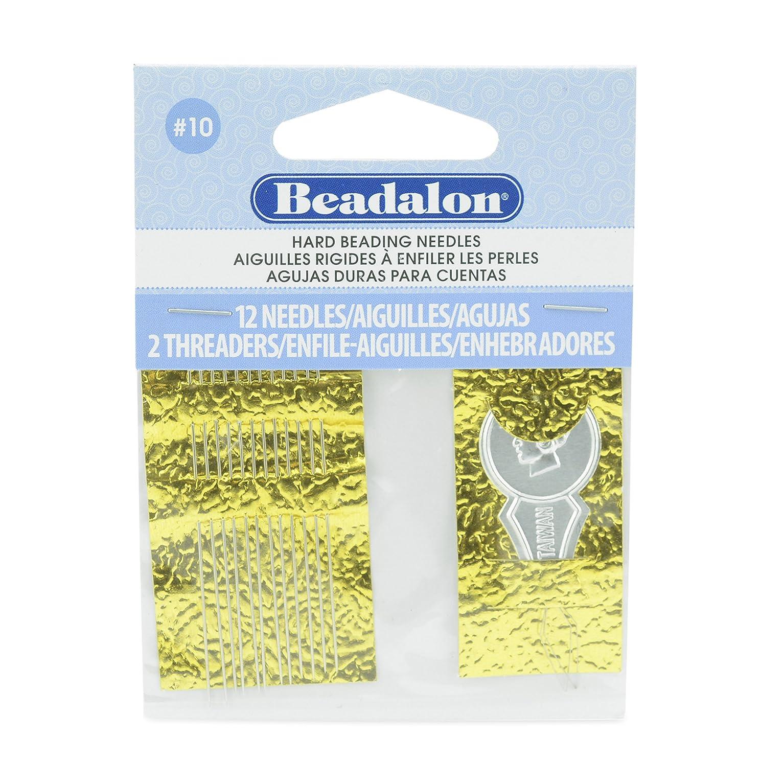 Beadalon JNEEH10/12 BEADLON Needles Size 10 12 Pack, Multicolor