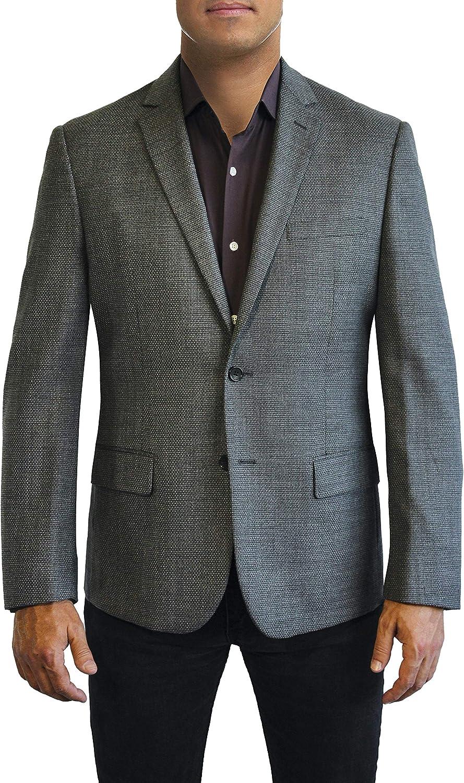 Daniel Hechter Grey Textured Two Button Jacket