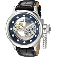 Invicta Men's Russian Diver Stainless Steel Automatic-self-Wind Watch with Leather Calfskin...