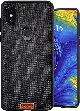 Fronte Retro Xiaomi Redmi Note 6 Pro Cover Effetto Pelle Nero Vetro Temperato