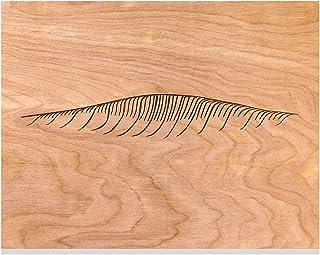 "CARVT Surf Art - Simple Ocean Waves Engraved into Wood - 11""x14"" (AFrame (Before))"