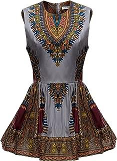 Women African Print Shirt Dashiki Traditional Top
