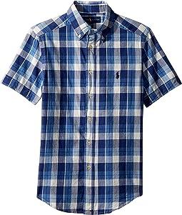 Cotton Madras Sport Shirt (Big Kids)