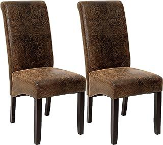 TecTake Lot de 2 chaises de salle à manger 106 cm chaise de salon mobilier meuble de salon - diverses couleurs au choix - ...