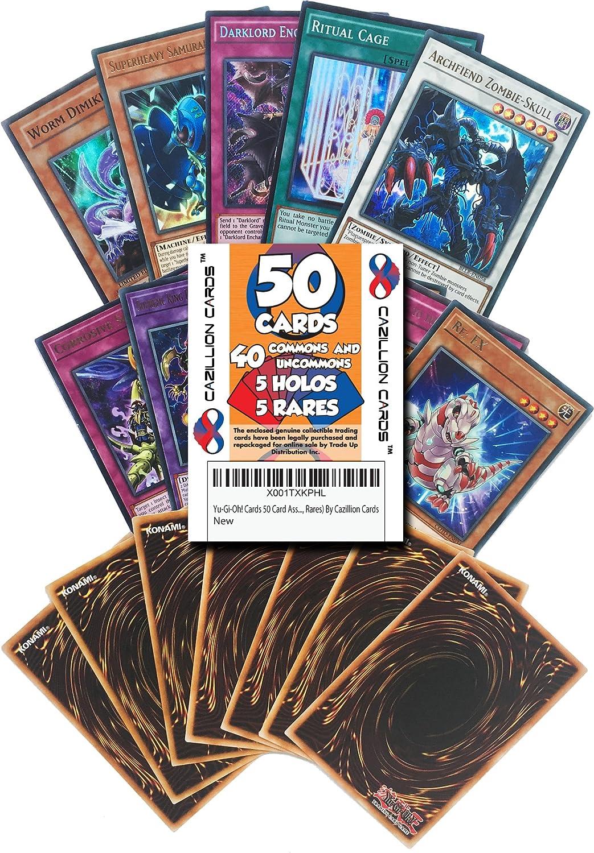 RANDOM 100 CARD LOT RANDOM ASSORT LOT Yu-Gi-Oh GUARANTEED MONEY WORTH HOLOS!
