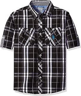 U.S. Polo Assn Boys' Long Sleeve Plaid Two Pleated Pocket Sport Shirt