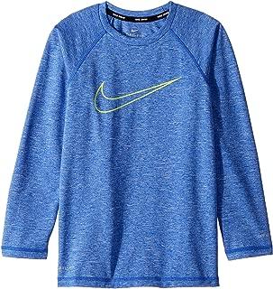 Nike Kids Boy's Heather Swoosh Long Sleeve Hydroguard (Big Kids)