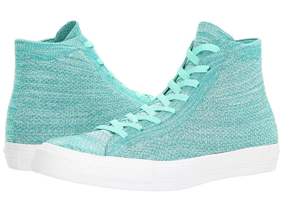 Converse Chuck Taylor(r) All Star(r) X Nike Flyknit Hi (Green Glow/Teal) Shoes