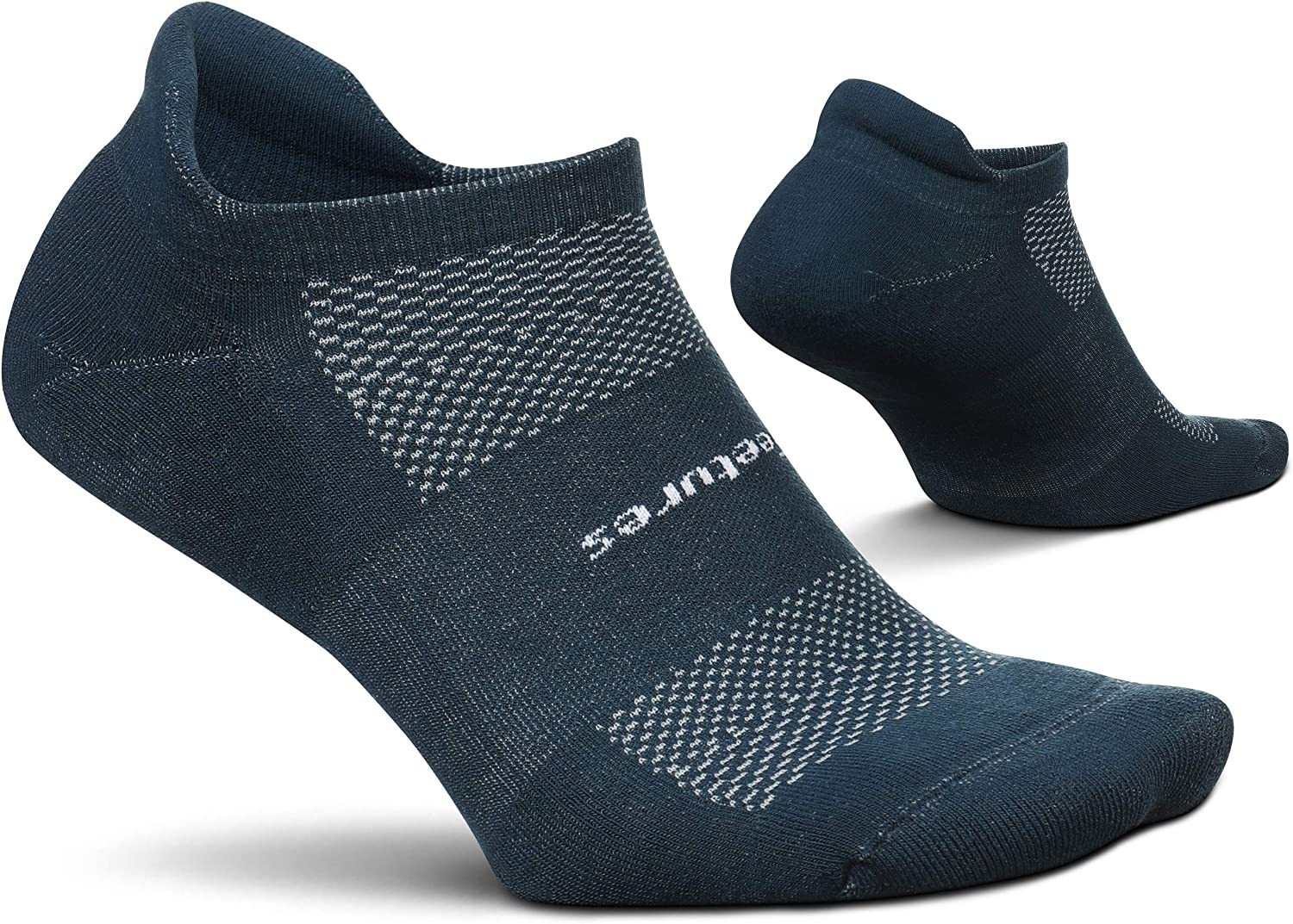 Feetures High Performance Ultra Light No Show Tab Solid- Running Socks for Men & Women, Athletic Ankle Sock, Moisture Wicking