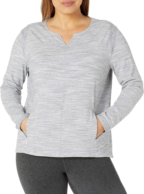 SHAPE activewear Women's Plus Size Modern Zen Pullover Sweatshirt