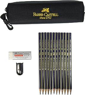 Faber-Castel FC701000 14 Piece Creative Studio Graphite Pencil Drawing Set, Assorted