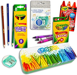 مجموعة أقلام رصاص ملونة ممتازة ~ 26 قطعة من كرايولا مجموعة اللوازم المدرسية كرايولا مع ملصقات (متجر كرايولا للفنون والحرف ...