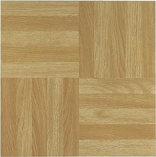 Achim Home Furnishings FTVWD20420 Nexus 12-Inch Vinyl Tile, Wood, Four Finger Square Parquet