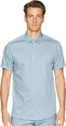 Narnar Short Sleeve Geo Print Shirt