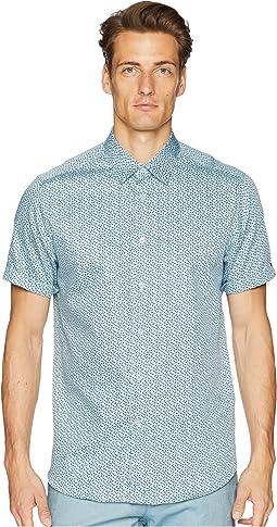 Narnar Short Sleeve Geo Print Shirt