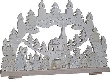 SchwibboLa 3–112 erzgebirgischer Double Arche Lumineux avec Certification 3–112 50 x 30 cm