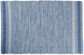 DII VARIEGATED RECYCLED YARN 2x3 FT Rug, Blue Varigated