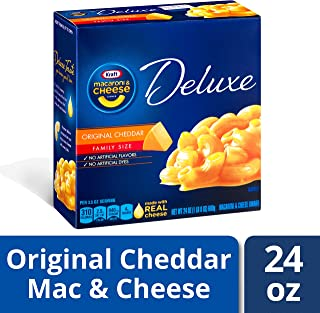 Kraft Deluxe Original Cheddar Macaroni and Cheese Dinner, 24 oz Box , Pack of 3
