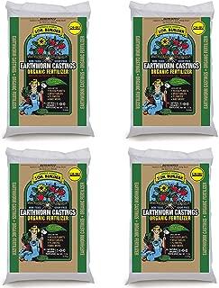Unco Industries Wiggle Worm Organic Earthworm Castings Fertilizer, bLUDXb 4 Pack (15 Pounds)