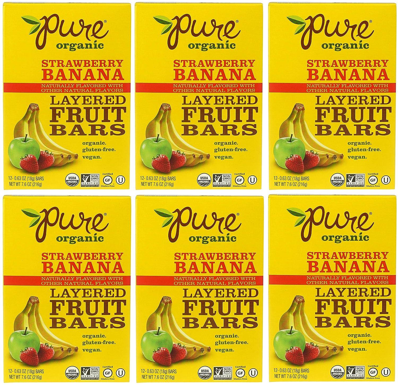 Pure Organic Oklahoma City Mall New Orleans Mall Layered Fruit Bars Banana 12 - 6 Strawberry