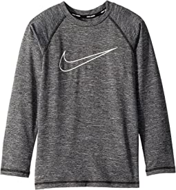 Nike Kids Heather Swoosh Long Sleeve Hydroguard (Big Kids)