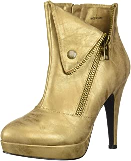 2 Lips Too Women's Too Snapped Fashion Boot, Champagne, 6 M US