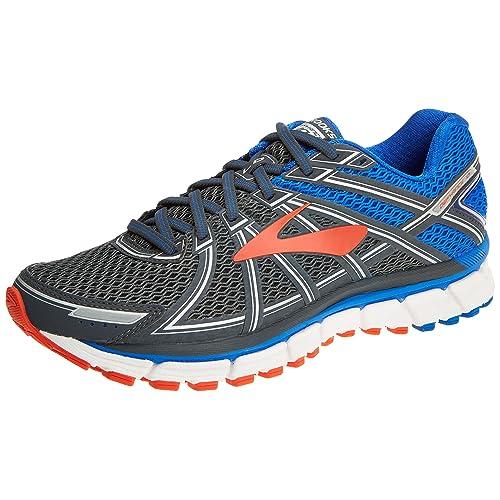738e363b003 Brooks Defyance 10 Men s Running Shoe Ebony Blue Orange Size 10 B(M
