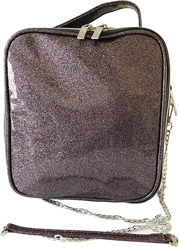Bari Lynn Girl S Soft Glitter Purple Lunch Bag