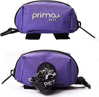 Prima Pets Dog Poop Bag Holder Leash Attachment, Waste Bag Dispenser, Lightweight Fabric, Walking, Running or Hiking Accessory