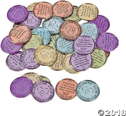 Fun Express Inc. Plastic Kindness Coins (12 dozen) - Bulk