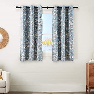 amazonbasics 100% Blackout Silky Soft Fabric Window Panel with Grommets and Thermal Insulated, Noise Reducing Blackout Lin...