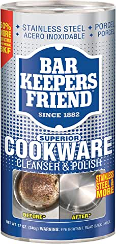 Bar Keepers Friend Superior Cookware Cleanser & Polish   12-Ounces   1-Unit
