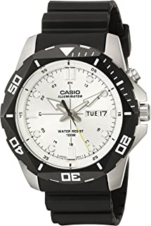 Casio Men's MTD-1080-7AVCF Super Illuminator Diver Digital Display Quartz Black Watch