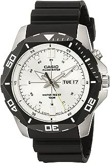 Men's MTD-1080-7AVCF Super Illuminator Diver Digital Display Quartz Black Watch