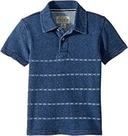 Lucky Brand Kids - Short Sleeve Print Polo (Toddler)